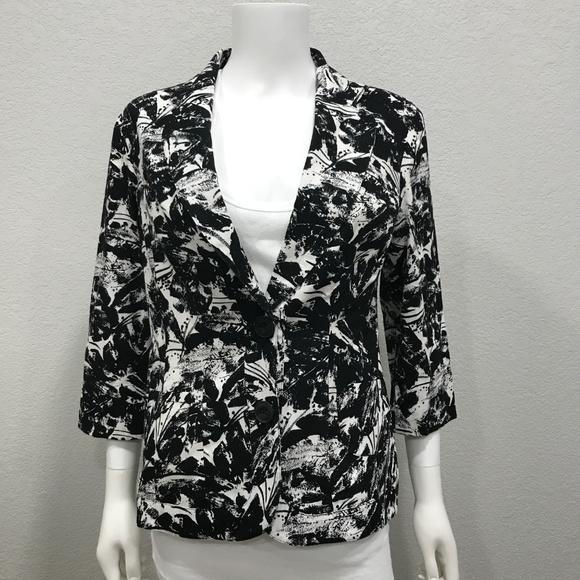 Coldwater Creek Jackets & Blazers - Coldwater Creek floral pattern blazer jacket